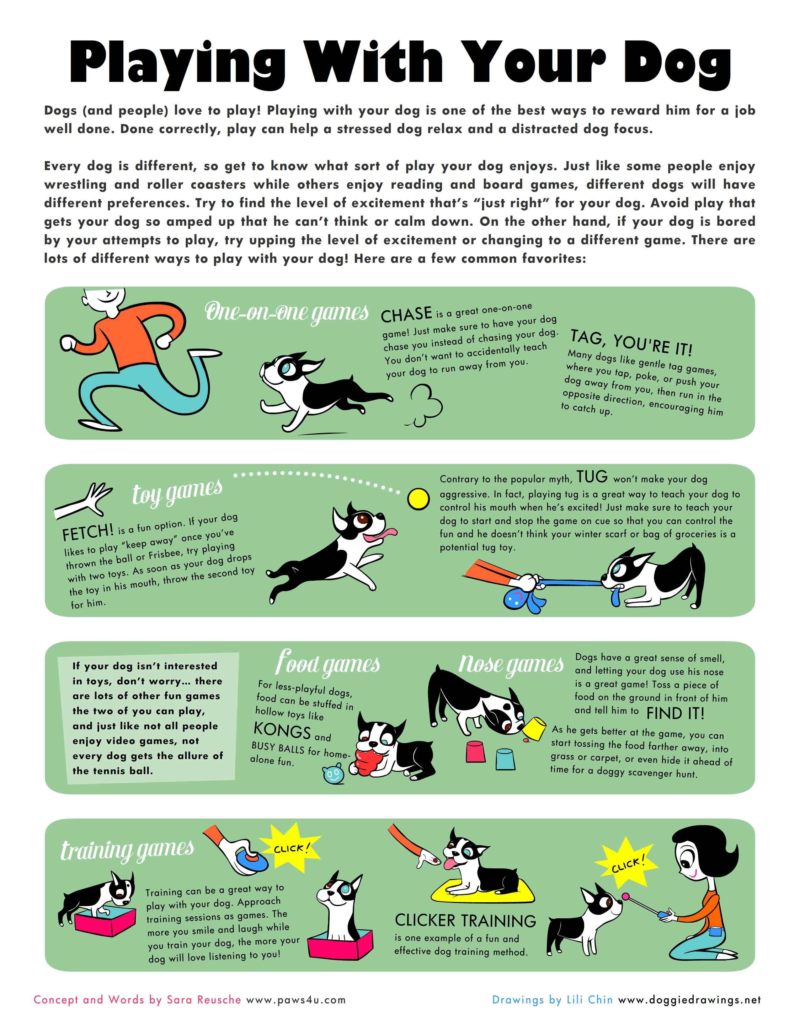 Playing With Your Dog Infographic